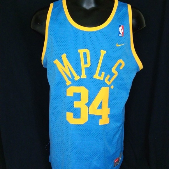 new arrival ed31a eb702 NIKE LAKERS MPLS THROWBACK SHAQ O'NEAL JERSEY
